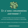 #GREENFRIDAY | Faite un achat responsable