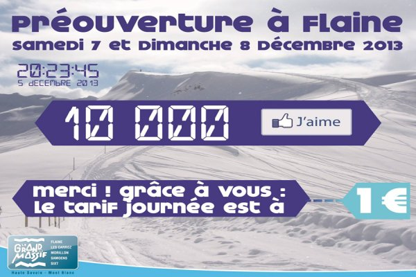 PREOUVERTURE DOMAINE SKIABLE GRAND MASSIF à seulement 1 € ! grand-massif.com