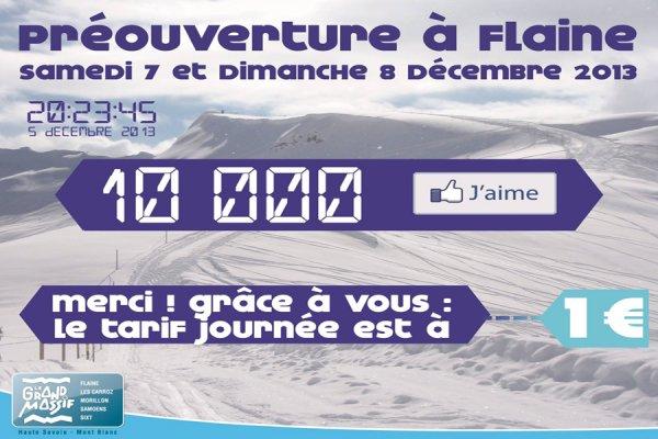 RÉUSSITE : FORFAIT A 1€, OPÉRATION SÉDUCTION DE FLAINE HAUTE-SAVOIE GRAND MASSIF