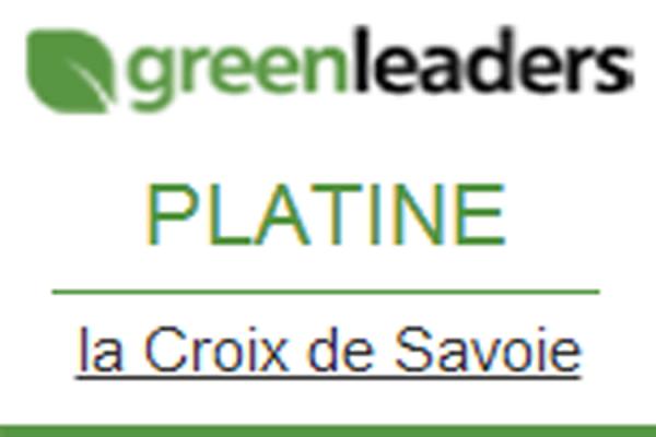 DISTINCTION : LA CROIX DE SAVOIE ECOLEADERS PLATINUM