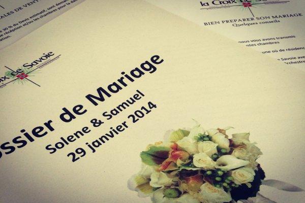 REMISE DE LA POCHETTE «MARIAGE» AUX FUTURS MARIES AUX CARROZ HAUTE SAVOIE