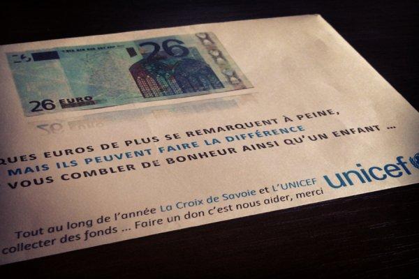 DON UNICEF – MERCI A VOUS – 200 € COLLECTE