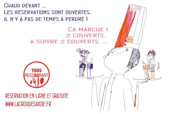 Dernière minute – Les réservations «Tous au Restaurant» Haute-Savoie sont ouvertes