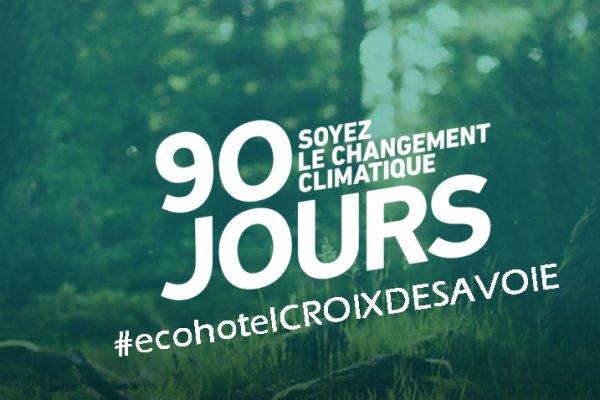 Comment rendre l'écologie ludique, L'hôtel et Restaurant La Croix de Savoie à une idée