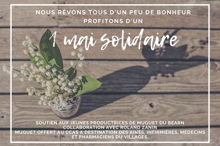 EVENEMENT 1ER MAI | Nos surprises pour ce weekend solidaire