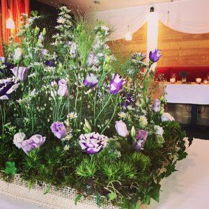 Décoration fleur mariage en haute-savoie les carroz La Croix de Savoie